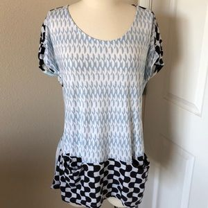 🔥9-H15 Stcl Anthropologie Blue Top Size L🔥